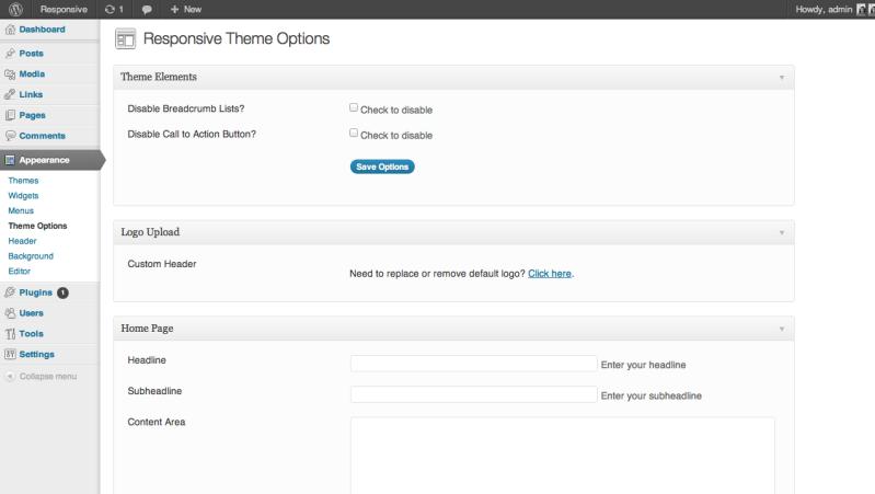 Responsive Theme Options