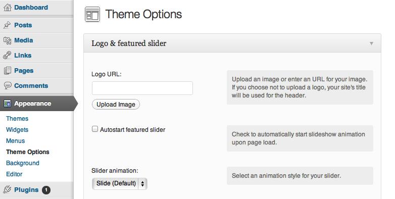 portfolio theme options by the theme foundry theme options gallery