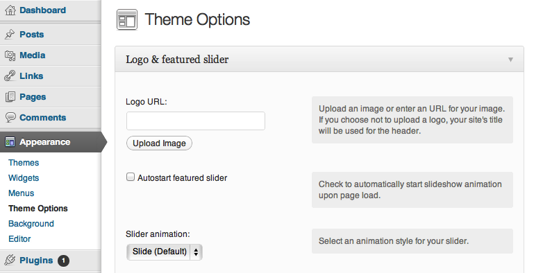 The Theme Foundry Theme Options
