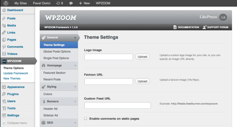 WPZOOM Theme Options